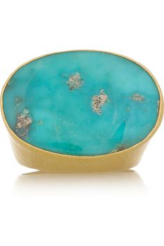 Gold and persian turquoise ♥
