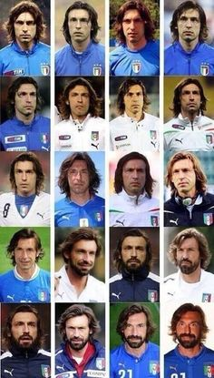 The many faces of Pirlo