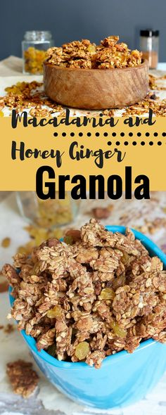 Healthy granola with lots of clusters and the perfect combination of flavours.  Perfect for breakfast or snack!