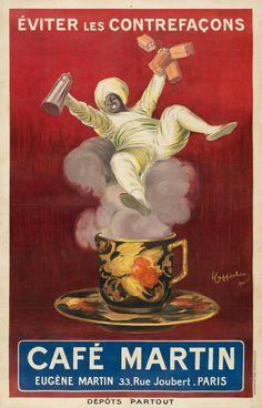 Café Vintage, Vintage French Posters, Vintage Advertising Posters, Vintage Coffee, Vintage Advertisements, Italian Posters, French Coffee, Vintage Food, Vintage Prints
