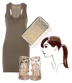 """""""Untitled #64"""" by laurenmq ❤ liked on Polyvore featuring Enza Costa, Valentino, Christian Louboutin, Henri Bendel, hair and Louboutin"""