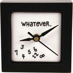 Whatever Desk Clock