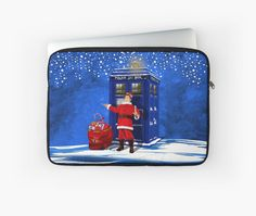 10th Doctor as a Santa claus  Laptop Sleeves #LaptopSleeves #Laptop #Sleeves #gallifrean #gallifrey #british #who #fandom #nerds #timelord #cover #geeky #nerdy #tardis #cool #funny #geek #nerd #christmas #newyear #fireworks #neonlights #thedoctor #doctorwho #timevortex #badwolf #drwho #timetravel #bluebox #publiccallbox #10thdoctor #tenthdoctor #davidtennant #unitedkingdom #unionjack #doctorwho