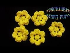 COMO TEJER FLOR A CROCHET PASO A PASO - YouTube Flower Patterns, Lana, Crochet Earrings, Flowers, Youtube, Crocheting Patterns, How To Knit, Head Bands, Crocheting