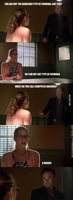 Detective, meet Felicity Smoak. Arrow!
