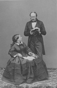 Queen Victoria and Prince Albert, Photographed in May, 1860. Source: Royal Collection Trust. #Victorians