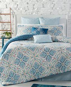 Freya Reversible 8-Pc. King Comforter Set - Bed in a Bag - Bed & Bath - Macy's