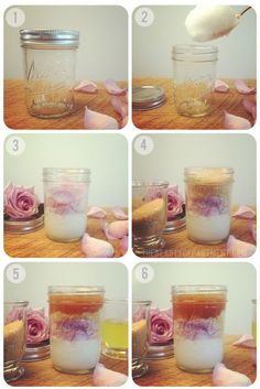 DIY: coconut + rose body scrub