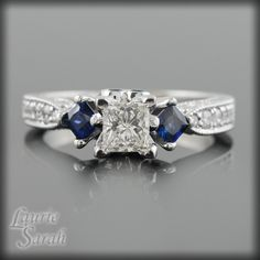 The 1222 Best Rings Engagement Vintage Sapphire Images On Pinterest