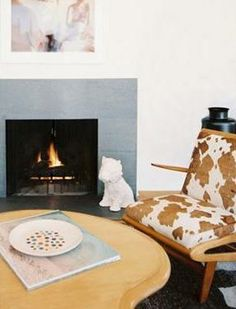 Cowhide chairs have a retro vibe.
