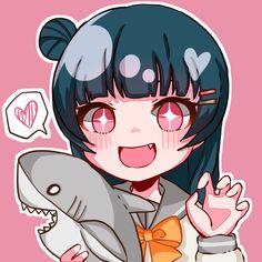 Yoshiko <3 Anime Love, Anime Girl Cute, Kawaii Anime Girl, Anime Art Girl, Kawaii Chibi, Anime Chibi, Character Art, Character Design, Art Jokes