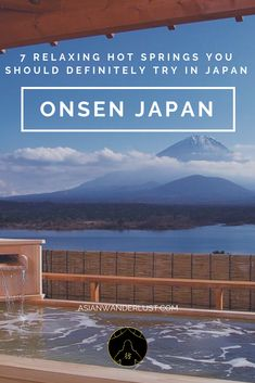 Onsen Japan Onsen Japan & Discover these 7 relaxing hot springs you need to try in Japan The post Onsen Japan appeared first on Travel. Japan Travel Tips, New Travel, Asia Travel, Hot Springs Japan, Japanese Hot Springs, Onsen Japan, Osaka Japan, Hot Springs Arkansas, Montezuma
