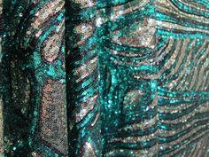 Green Exotic Print Sequins by HelenEnoxFabrics on Etsy