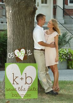Save the Date Magnets Engraved Love Design by PARTYBOXDESIGN, $25.00