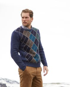 Shop Men's Tartan Sweaters & More at Brooks Brothers Mens Sweater Vest, Shawl Collar Sweater, Polo Sweater, Wool Vest, Sweater Shop, Preppy Winter, Polished Man, Brooks Brothers Men, Half Zip Sweaters