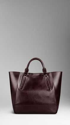 BURBERRY Large London Leather Portrait Tote Bag