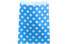 24 Papiertüten gepunktet blau 13 x 16,5 cm