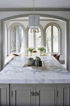 Kitchen Cabinets White Marble 61+ Trendy Ideas