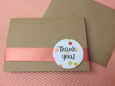 Homemade Thank You Card - I think I will try to make this this weekend.