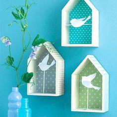 Maisonnettes à oiseaux ! #DIY Wood Crafts, Diy And Crafts, Crafts For Kids, Paper Crafts, Jar Art, Cardboard Art, Home And Deco, Preschool Crafts, Home Art