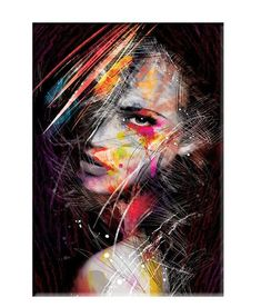 Fashion Modern Woman Indian Canvas Prints Painting Black Girl Makeup Posters and Prints Scandinan Picture for Living Room Decor 2