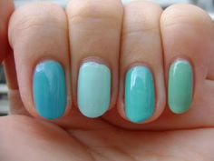 OPI Can't Find My Czechbook, Essie Mint Candy Apple, Essie Where's My Chaffeur, Essie Turquoise & Caicos
