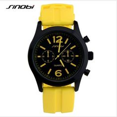 SINOBI Fashion Sports Women Watches Silicone Strap Luxury Brand Ladies Quartz Watch Females Clock Lady Hour relogio feminino