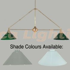 Lindrum 2 Light Billiard Table Light Polished Brass 2009 Glass