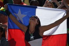 Chile Fan #WorldCup #Chile #Beautiful