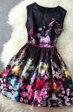 High end retro sleeveless mini dress
