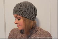 Crochet Ribbed Beanie Pattern; free
