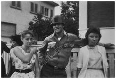 Elvis in the Army - Sigrid Schultz  -(right in the photo) met Elvis when her father took her to Bad Nauheim. She found her hero in a relaxed mood while off duty. Elvis – Private Presley 53 310 761 – was stationed at nearby Friedberg having been drafted into the US Army in March 1958 and flown to Germany that October.