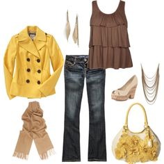 Cute, cute - don't know the quality, but the yellow peacoat is from Old Navy for cheap.