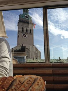 This is a great place to stop for a coffee, cake and a nice view of the Glockenspiel.