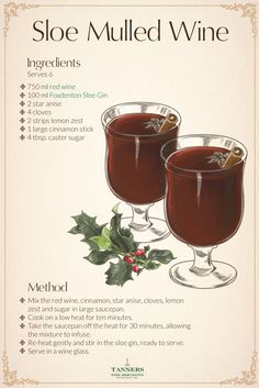 This sloe mulled wine #cocktail takes the two most #festive drinks and brings them together to create the ultimate #christmas beverage