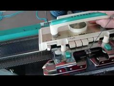 pattern knitting on Brother 8 button machines fairisle - YouTube