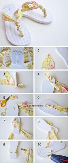 Wonderful Choose the Right Fabric for Your Sewing Project Ideas. Amazing Choose the Right Fabric for Your Sewing Project Ideas. Crochet Shoes, Crochet Slippers, Fabric Flip Flops, Flip Flop Craft, Shoe Makeover, Flipflops, Shoe Crafts, Shoe Pattern, Summer Diy