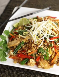 Chicken Pad Thai via @PBS Parents