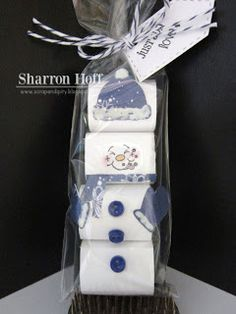 Adorable snowman candy gift idea from Sharon w/My Creative Time