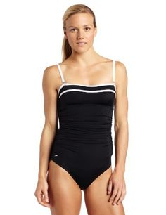 Speedo Women's Shirred Empire 1 Piece Swimsuit Speedo. $40.87. Made in Mexico. Speedo 360 degree core control technology for a most slimming fit. 80% Nylon/20% Spandex. Trademarked no-wire underwire bra construction with removable cups. Hand Wash. Made by speedo, the world's #1 swim brand. Adjustable and removable straps. Attractive side shirring for flattering fit