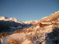 Winterlicher Sonnenaufgang im #Zedlacher Paradies