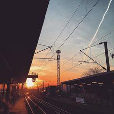 #sun #sunset #train #sncf