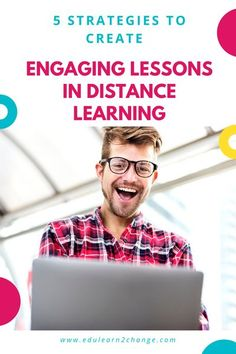 Check out these 5 strategies to boost your students' engagement in distance learning. You'll create more engaging lessons and provide effective instructions.#distancelearning,#studentengagement,#lessonplan. Teaching Tips, Learning Resources, Teacher Resources, College Teaching, Teacher Tools, Learning Tools, Classroom Resources, Engage In Learning, Social Emotional Learning