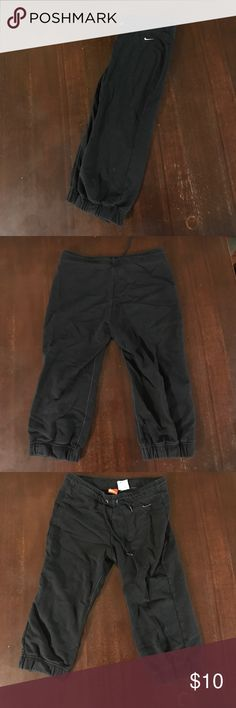 Nike Capri Sweats Size small Nike Capri black sweats. Fair condition. No damage. Nike Pants Track Pants & Joggers