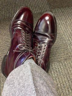Alden #8 captoe boot on Grant last