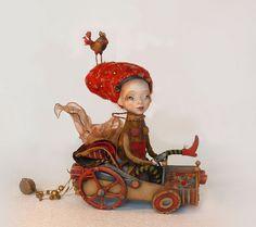 City trip - art doll by Anna Zueva