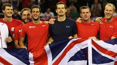Great Britain celebrate Davis Cup win over United States