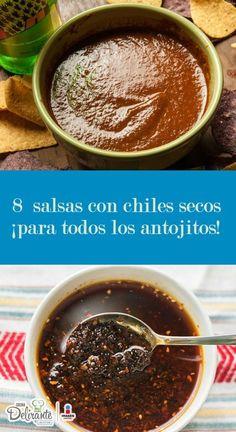 salsas con chiles secos | CocinaDelirante