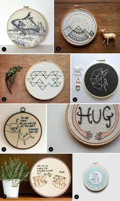 Embroidery Patterns Embroidery Hoop Inspiration - When I was younger, I used to cross-stitch (I vividly remember using a lot of pink thread to sew Mr. Blobby), however I'd always thought of embroidery as being more old-fashioned. Hand Embroidery Tutorial, Embroidery Transfers, Embroidery Patterns Free, Hand Embroidery Stitches, Modern Embroidery, Embroidery For Beginners, Beaded Embroidery, Cross Stitch Embroidery, Embroidery Designs