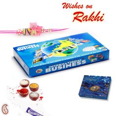Picture of International Business Board game and Rakhi Hamper Hampers Online, Rakhi Gifts, Gift Hampers, Learning Games, Board Games, Business, Kids, Registration Form, Role Playing Board Games
